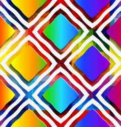 Rainbow colored rectangles and rim on rainbow vector image