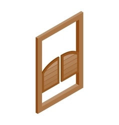Saloon doors icon isometric 3d style vector image vector image