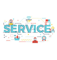 service word lettering vector image