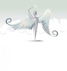 angels icon vector image