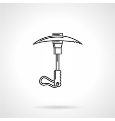 Black icon for ice axe vector image
