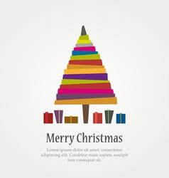 christmas modern tree vector image vector image