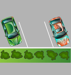 city parking banner vector image