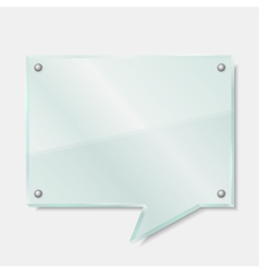 Glass Speech Bubble vector image vector image