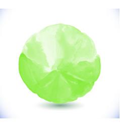 green watercolor design element vector image