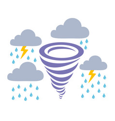 Icons storm rain and clouds vector