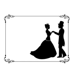 loving couple in period costumes vector image vector image