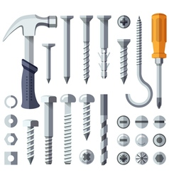 Repair tools flat icons set vector image vector image