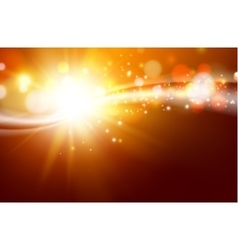 Sun sparkle over dark space vector image vector image