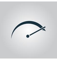 tachometer icon vector image