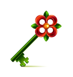 Vintage flower key isolated on white vector