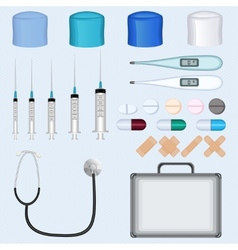Doctor Medical Accessories Set vector image vector image