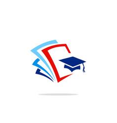 education college data logo vector image