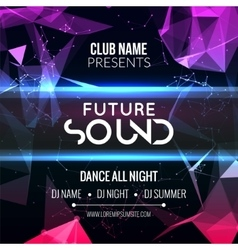 Modern Summer Club Music Party Template Dance vector image