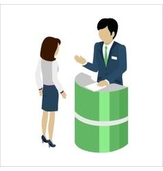 Reception Service Concept vector image