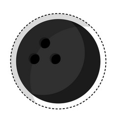 bowling sport isolated icon vector image vector image