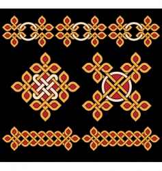 Celtic ornaments set vector image