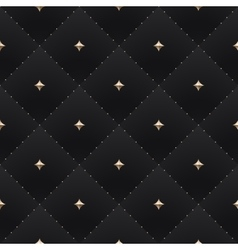 Seamless luxury dark black pattern and background vector image