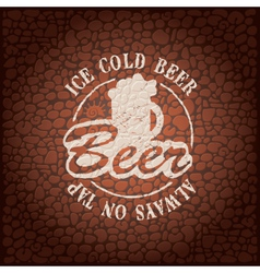 wall beer vector image vector image