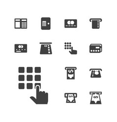 13 atm icons vector