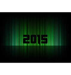 2015 abstract lines black green vector image
