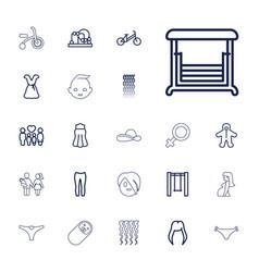 22 girl icons vector