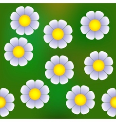 Abstract daisy semaless pattern vector