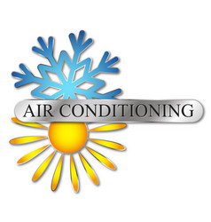 Air conditioning heating and cooling symbol vector