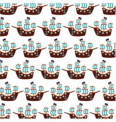 antique sailboat pattern background vector image