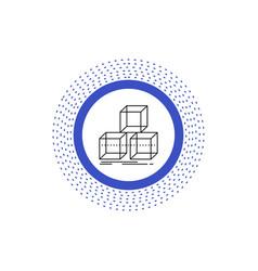 Arrange design stack 3d box line icon isolated vector