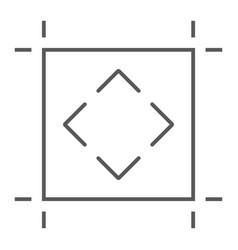 Artboard thin line icon tools and design board vector