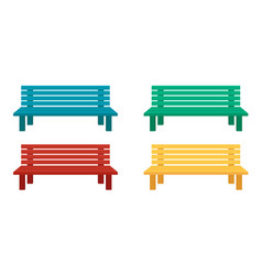 benches for home and garden flat vector image