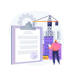 Building industry license abstract concept vector