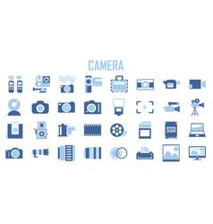 camera photography action logo vector image
