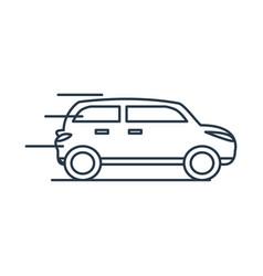 Car sedan isolated icon vector