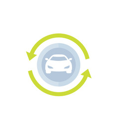 carsharing car rental service icon vector image