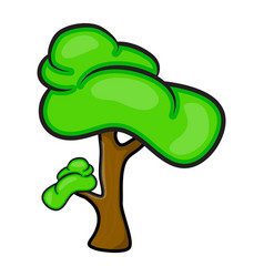 cartoon tree symbol icon design beautiful vector image