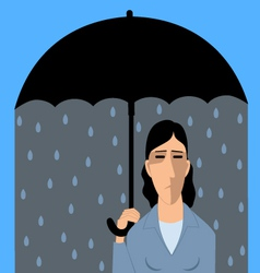 Clinical depression vector