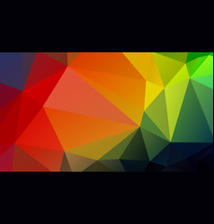 color geometric background mosaic triangles vector image