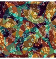 Colorful floral decorative pattern Seamless vector