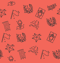 communism concept icons pattern vector image