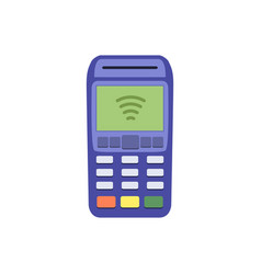 Contactless payment machine vector