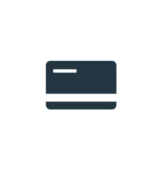 credit card icon simple element vector image