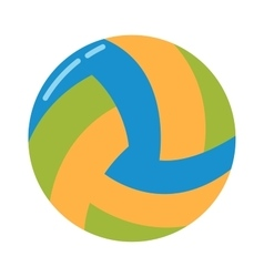 Dark blue yellow volleyball ball on a white vector image