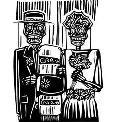 Day dead wedding vector