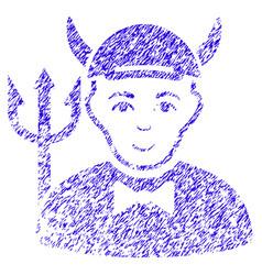 Devil icon grunge watermark vector