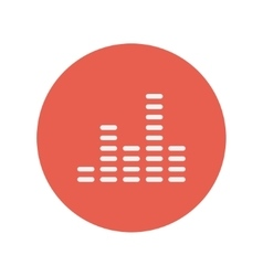 Digital equalizer thin line icon vector