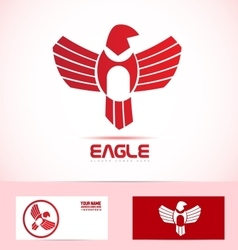 Eagle bird logo icon vector