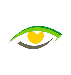 Eye optic watch logo vector