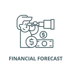 financial forecast line icon linear vector image
